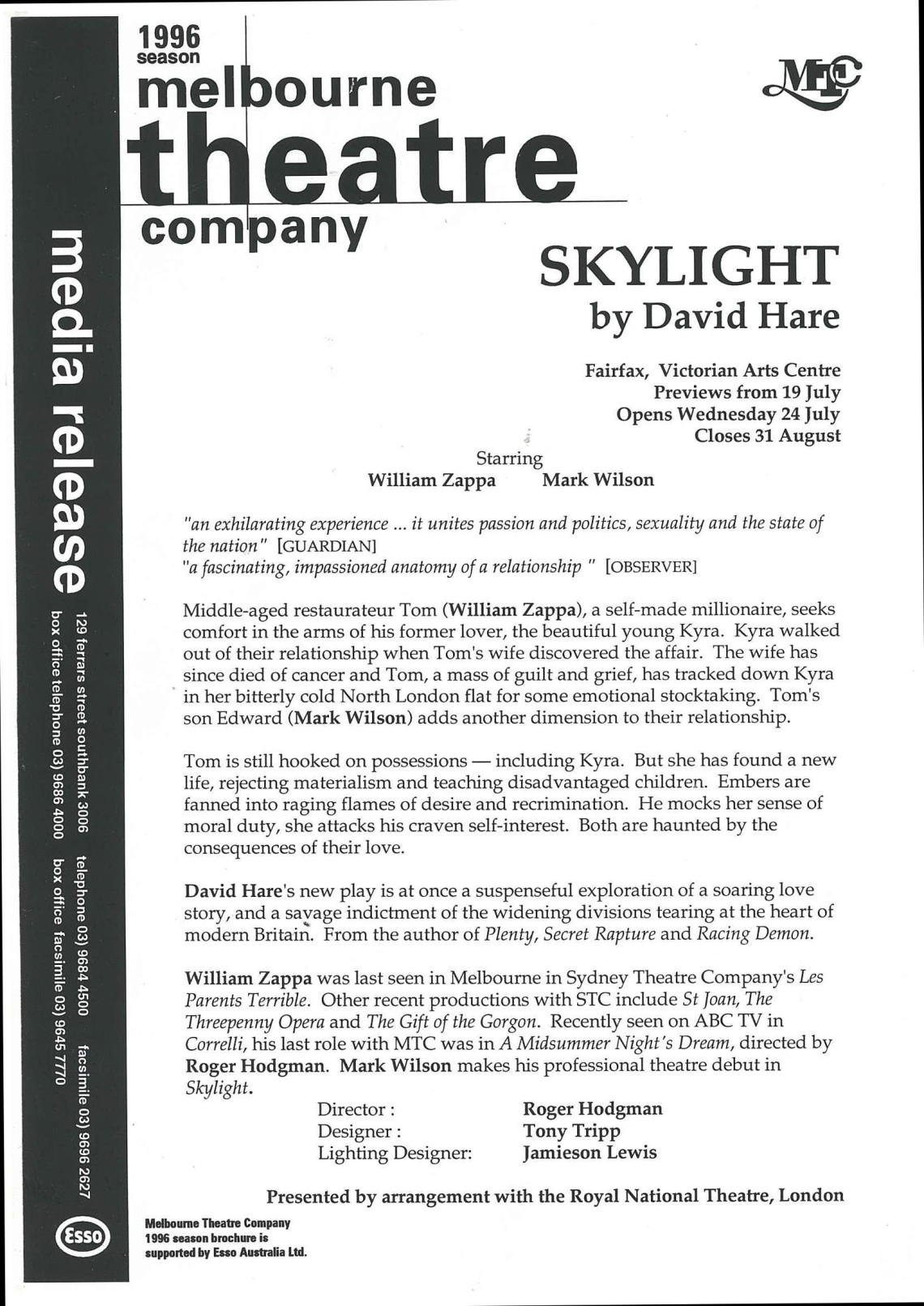 Skylight press release
